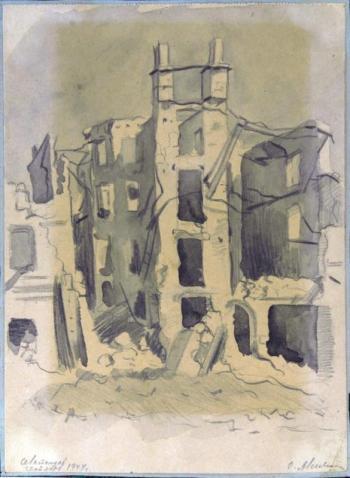 Авсиян О. А. Развалины жилого дома