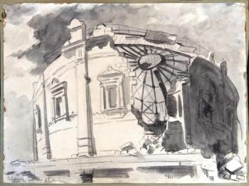 Авсиян О. А. Разрушенное здание Севастопольской панорамы