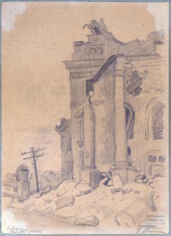 Авсиян О. А. Разрушенное здание института физических методов лечения им. Сеченова в Севастополе
