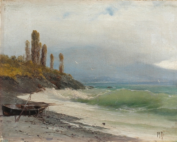 Алисов М. А. Лодка на берегу