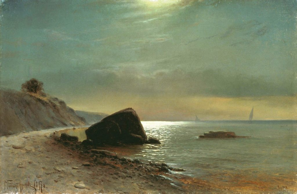 Алисов М. А.  Лунная ночь на море. 1897