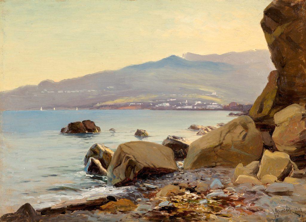Алисов М. А.  Морской берег. Вид на Ялту