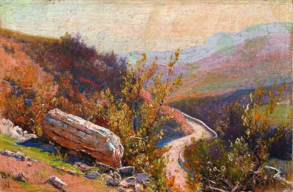 Алисов М. А.  Серпантинная дорога. 1919
