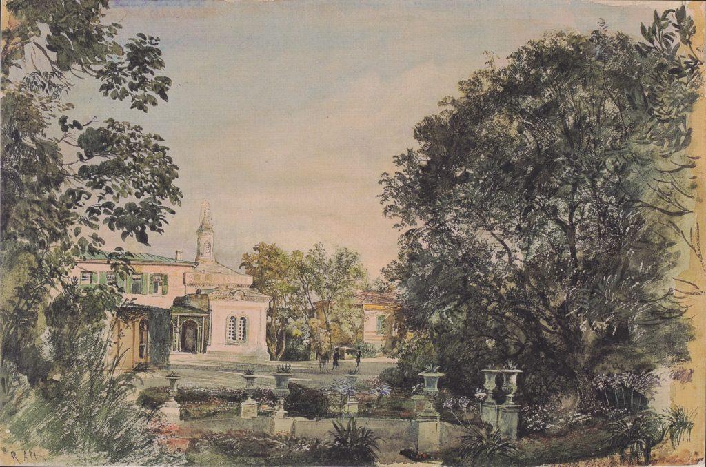 Альт. Императорский дворец в Ливадии. 1863