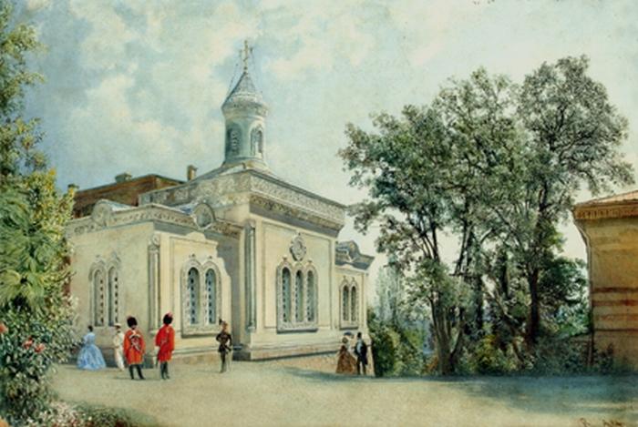 Альт. Ливадия католический храм, потом Крестовоздвиженская церковь