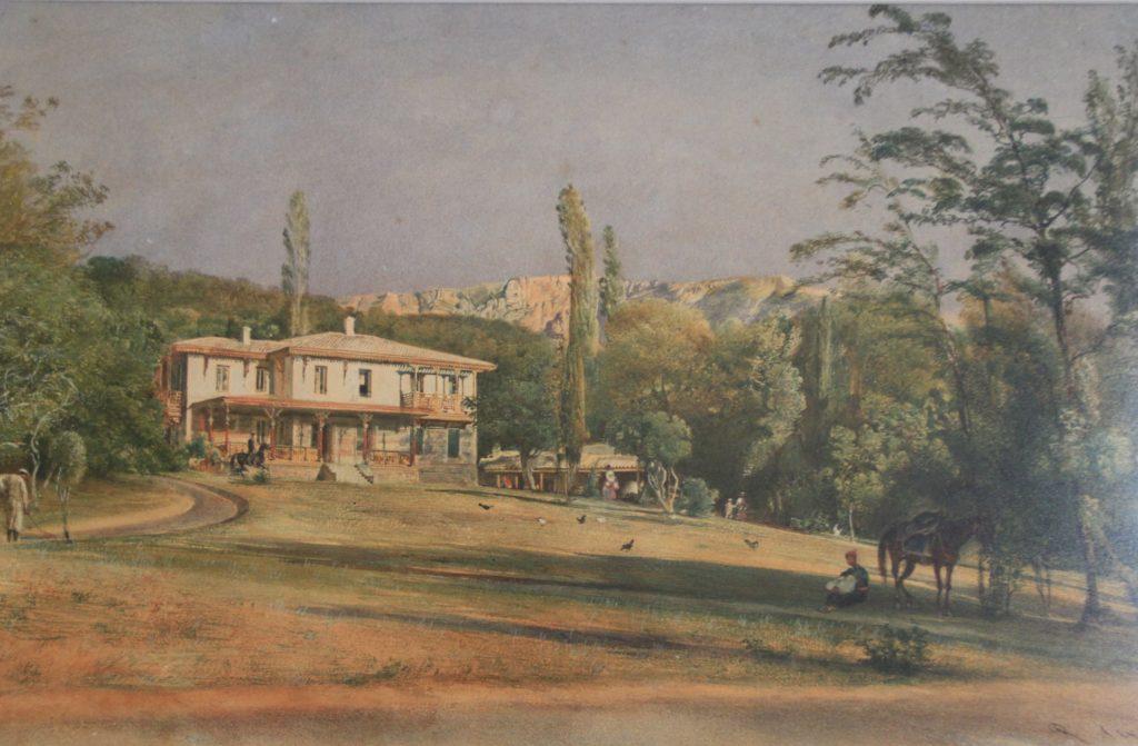 Альт. Домик садовника в Ливадии. 1863