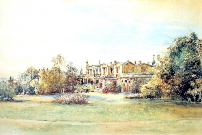 Альт. Оранжерея в Ливадии. 1863