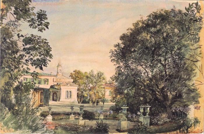 Альт. Парк в Ливадии. 1863