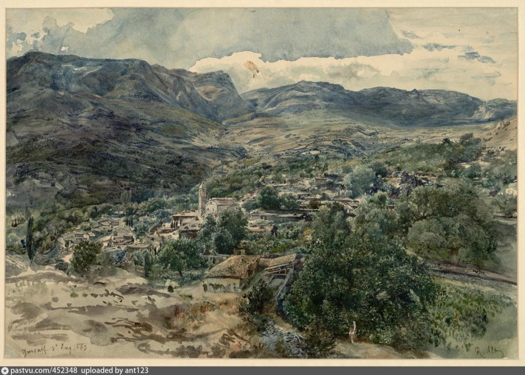 Альт. Вид Гурзуфа. 1863