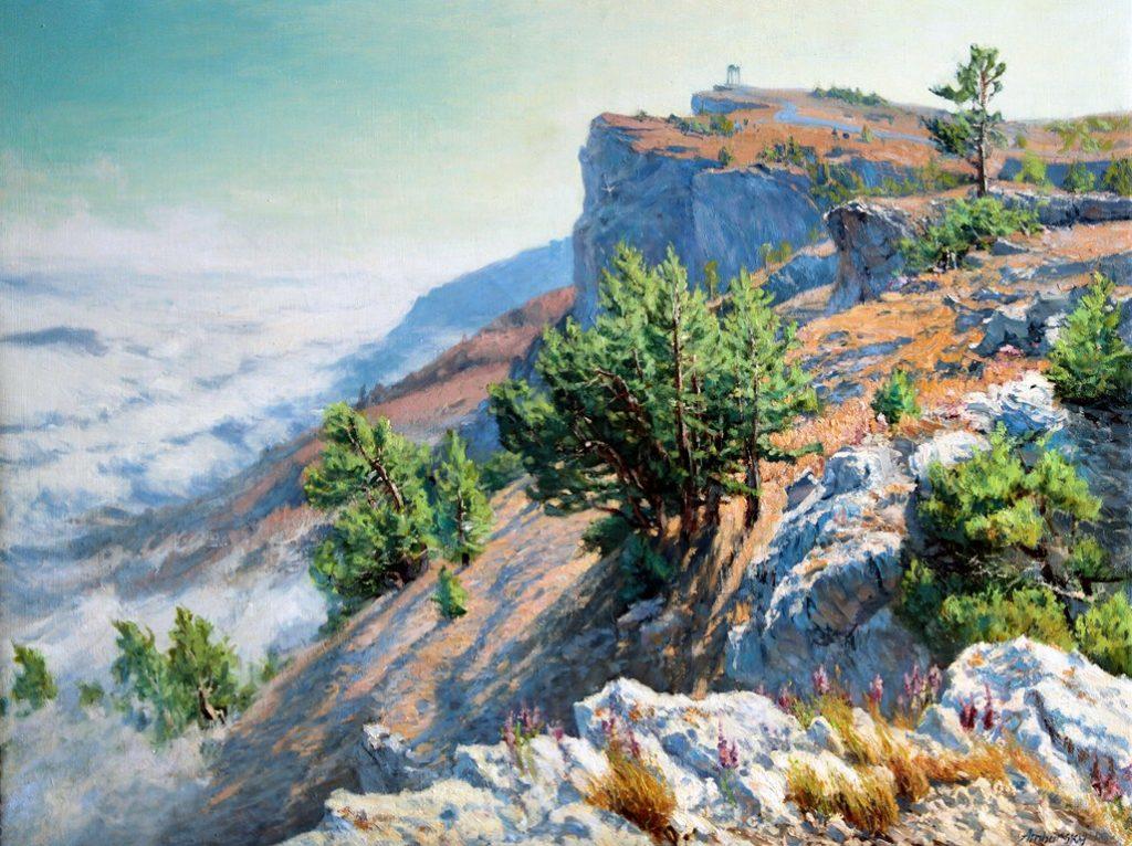 Амбурский А. Над облаками скалы взмылись вверх...