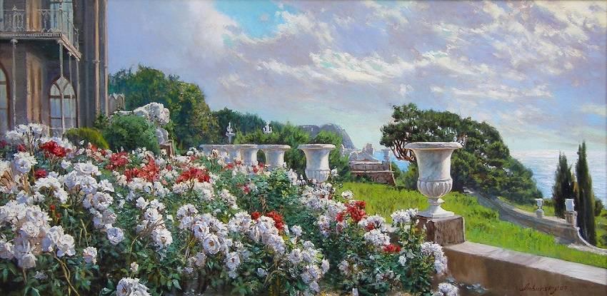 Амбурский А. Розы в Алупке