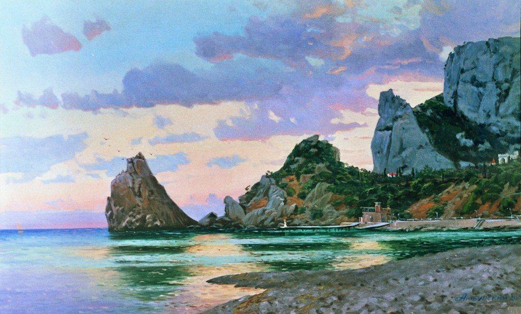 Амбурский А. Симеиз. Морской пейзаж