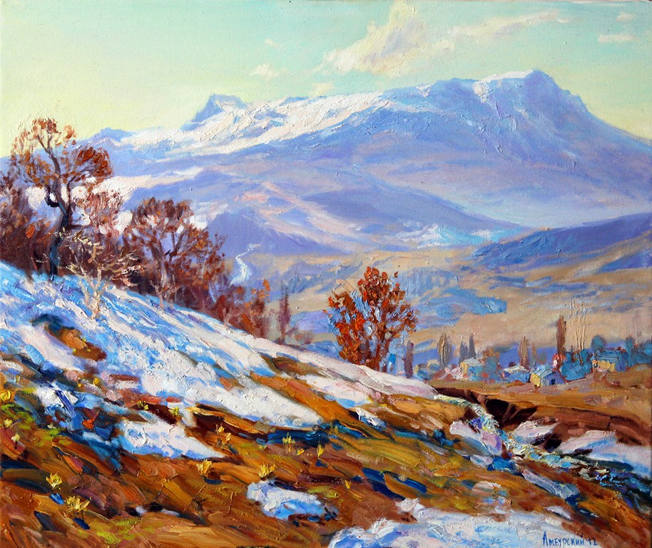 Амбурский А. Тает весенний снег,цветам уступая место