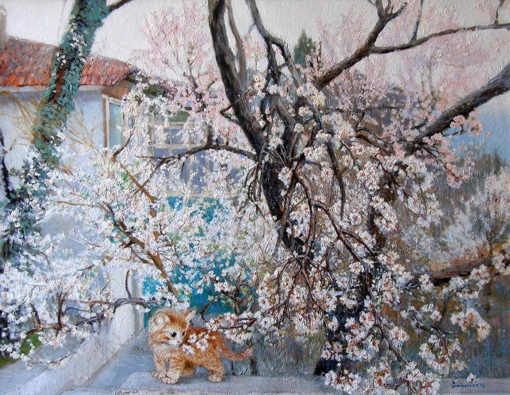 Амбурский А. Цветущая вишня