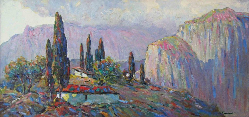 Бакаев С. И. Горное село. 1980-е
