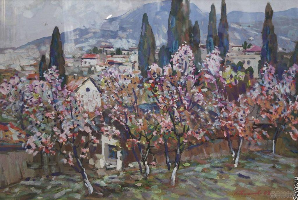Бакаев С. И. Цветущий поселок. 1982