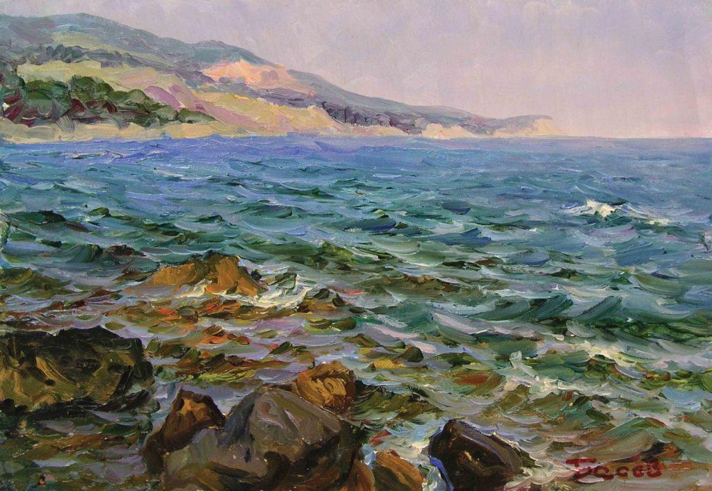Басов Я. А. Ветер с берега. 1956