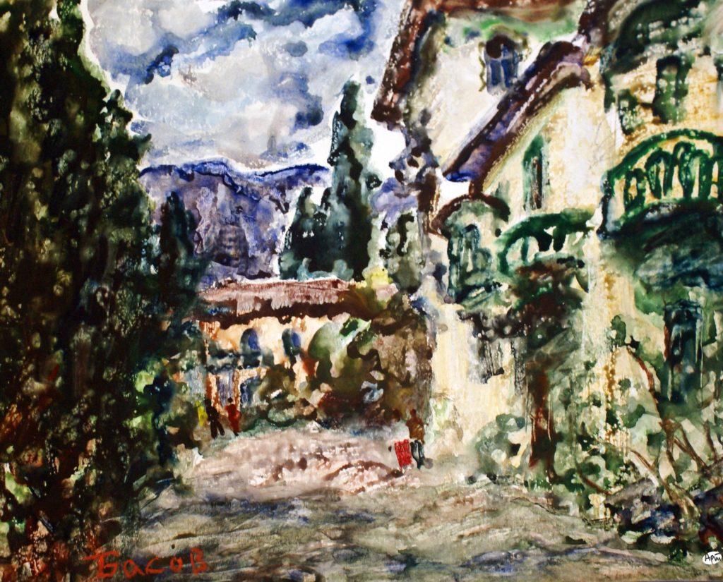 Басов Я. А. Ялта. Старинный дом. 1986