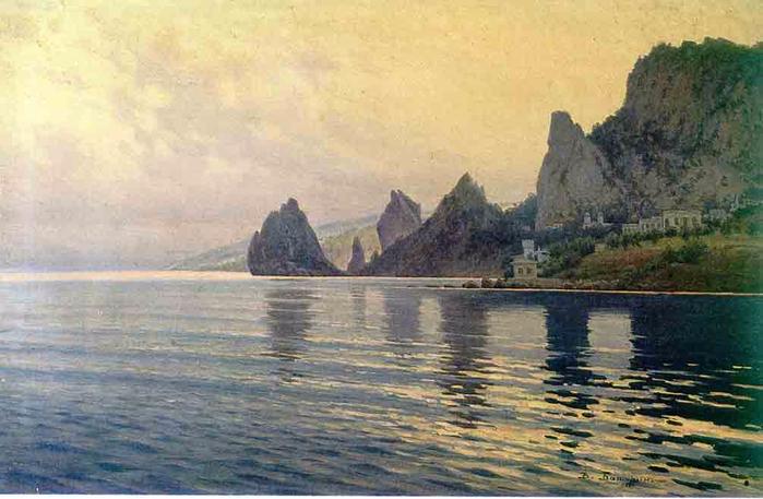 Батурин В. П. Морской берег. Скалы у Симеиза 1912
