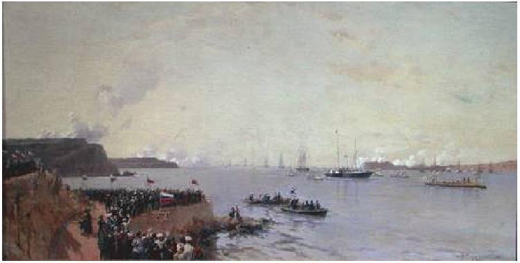 Беггров А. К. Прибытие императора в Севастополь 1887