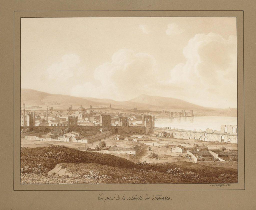 Кюгельген Вид с Феодосийской крепости