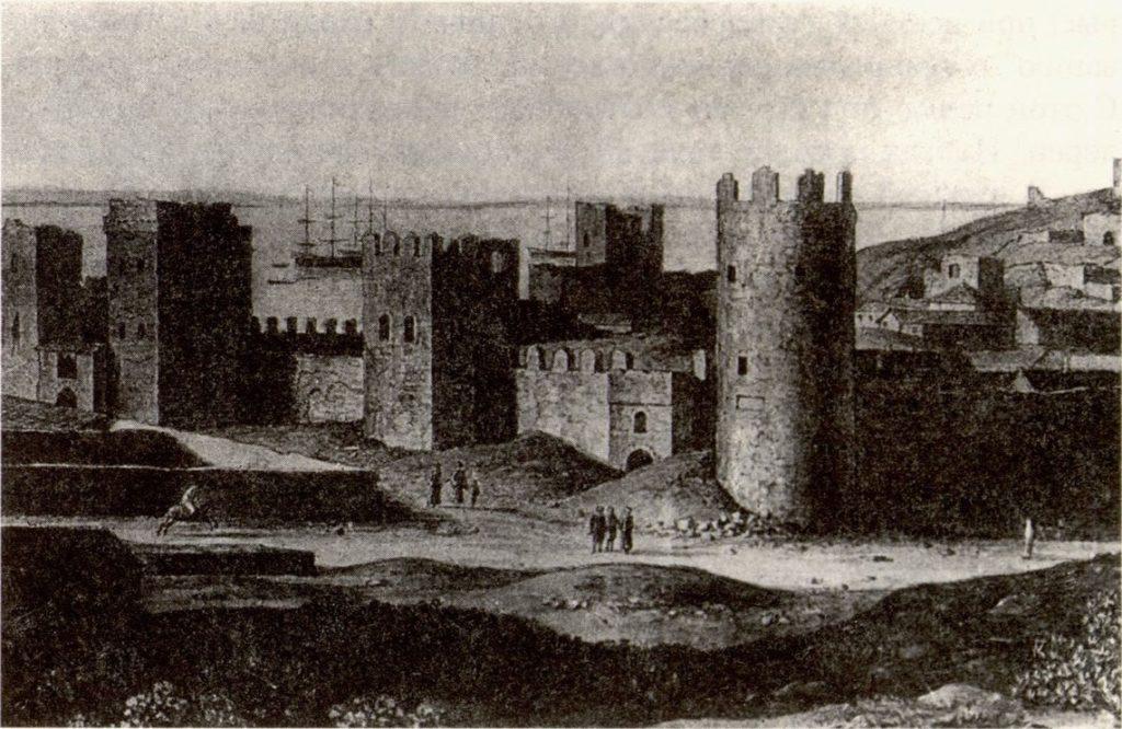 Кюгельген Западный фасад цитадели Каффы. 1820