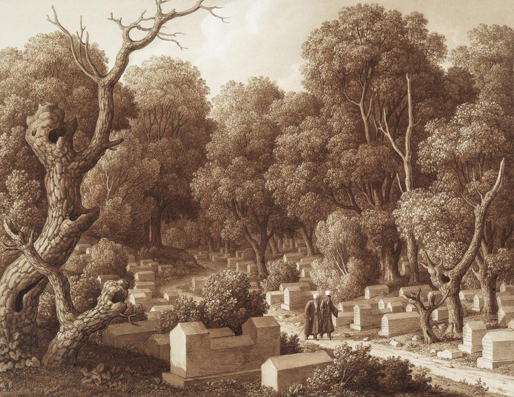 Кюгельген Караимское кладбище в Чуфут-Кале